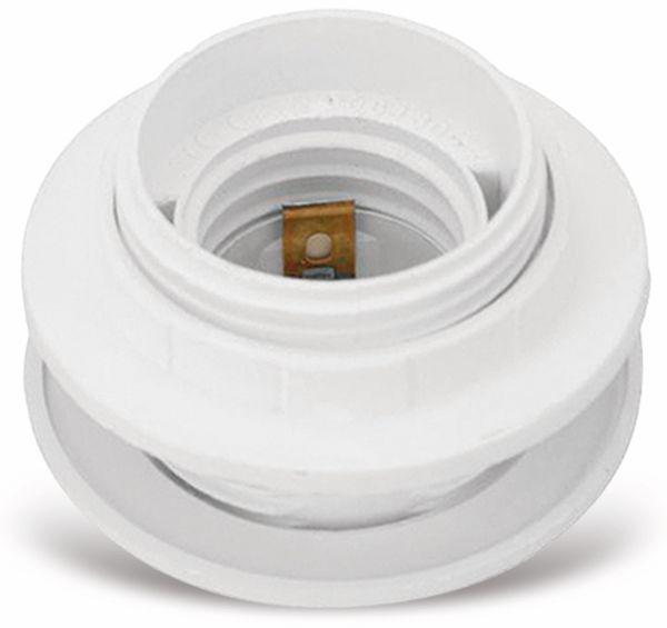 Lampenfassung, Einbaufassung E27, Kunststoff