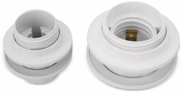 Lampenfassung, Einbaufassung E27, Kunststoff - Produktbild 2