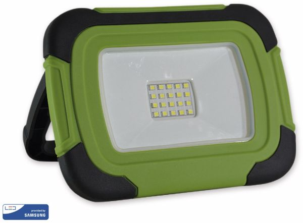 LED-Fluter VT-11-R, 10 W, 700 lm, 6400 K, Akkubetrieb, grün/schwarz