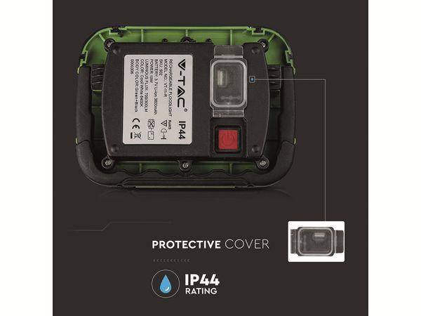 LED-Fluter VT-11-R, 10 W, 700 lm, 6400 K, Akkubetrieb, grün/schwarz - Produktbild 5