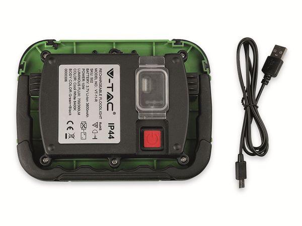 LED-Fluter VT-11-R, 10 W, 700 lm, 6400 K, Akkubetrieb, grün/schwarz - Produktbild 11