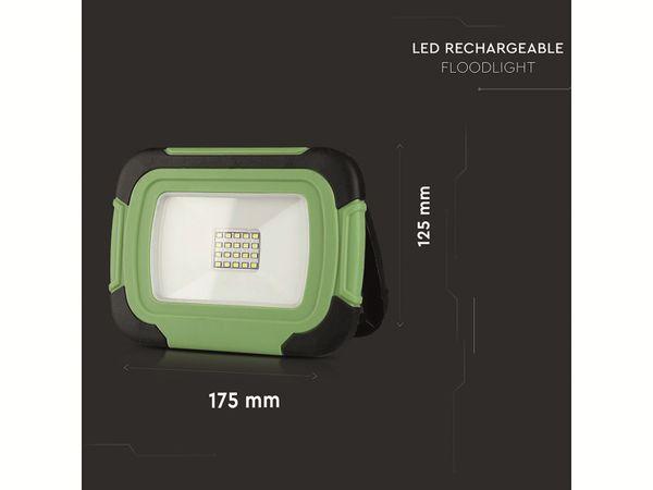 LED-Fluter VT-11-R, 10 W, 700 lm, 6400 K, Akkubetrieb, grün/schwarz - Produktbild 12