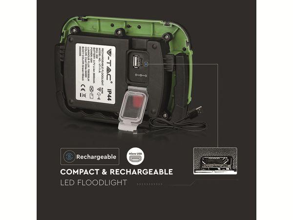 LED-Fluter VT-11-R, 10 W, 700 lm, 6400 K, Akkubetrieb, grün/schwarz - Produktbild 13