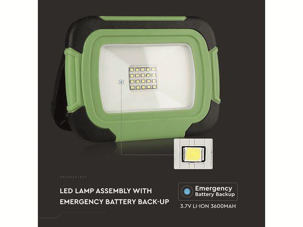 LED-Fluter VT-11-R, 10 W, 700 lm, 6400 K, Akkubetrieb, grün/schwarz - Produktbild 14