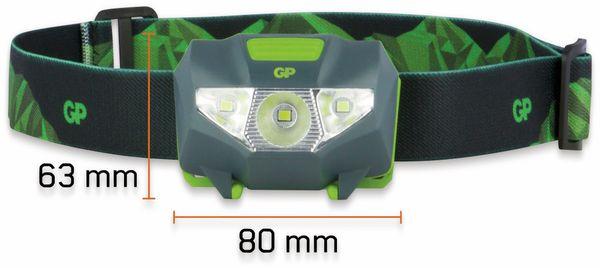 LED-Stirnlampe GP Discovery CH32, 80 lm, schwarz/grün