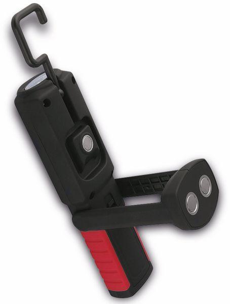 LED-Arbeitsleuchte EUFAB 13494 batteriebetrieben rot/schwarz - Produktbild 3