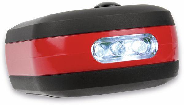 LED-Arbeitsleuchte EUFAB 13450 batteriebetrieben rot/schwarz - Produktbild 3