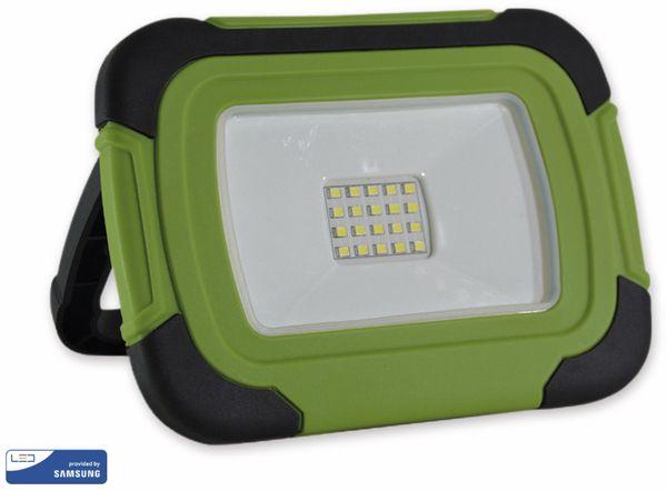 LED-Fluter VT-10-R, 10 W, 4000 K 700 lm, Akkubetrieb, grün/schwarz