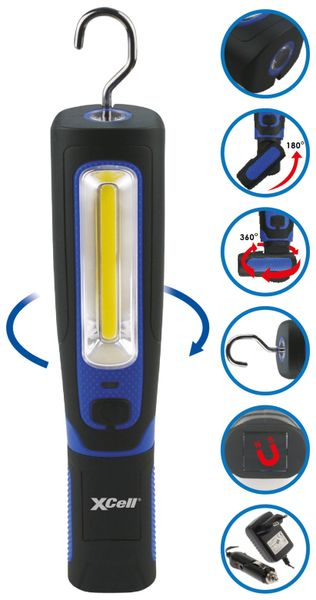 LED Arbeitsleuchte XCELL Spin, 4 W, 280 lm, 360° dreh- und 180° neigbar - Produktbild 3