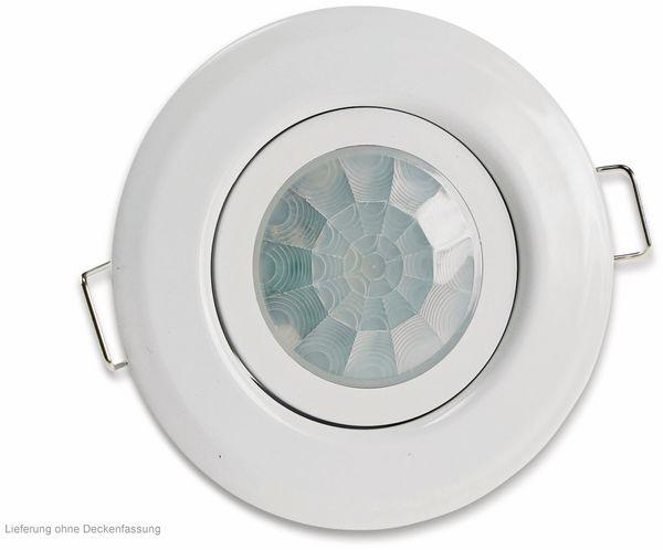 """Deckeneinbaurahmen Bewegungsmelder 360° """"M50"""", 50x63 mm, weiß - Produktbild 5"""