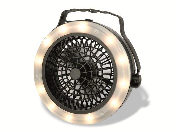 LED-Campingleuchte mit Ventilator GRUNDIG, 12 LEDs