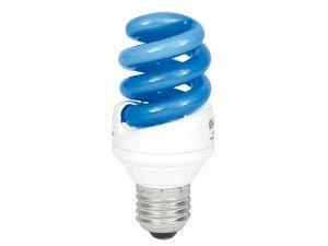 Energiesparlampe, blau