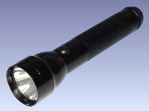 Alu-Taschenlampe, schwarz