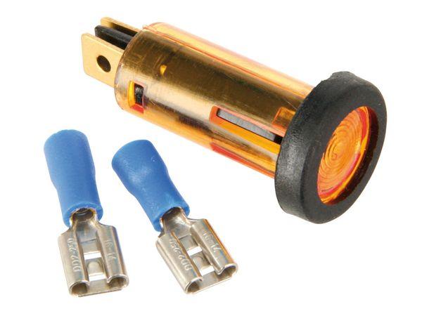 Kontroll-/Signalleuchte, 12 V, orange