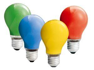 Glühlampen-Set, E27, 25 W, farbig, 5-teilig