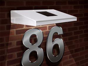 Hausnummernbeleuchtung Solar