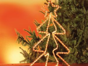 Weihnachtsfigur 3D, mit Beleuchtung