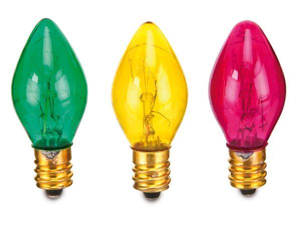 Farbiges Glühlampen-Set, E12