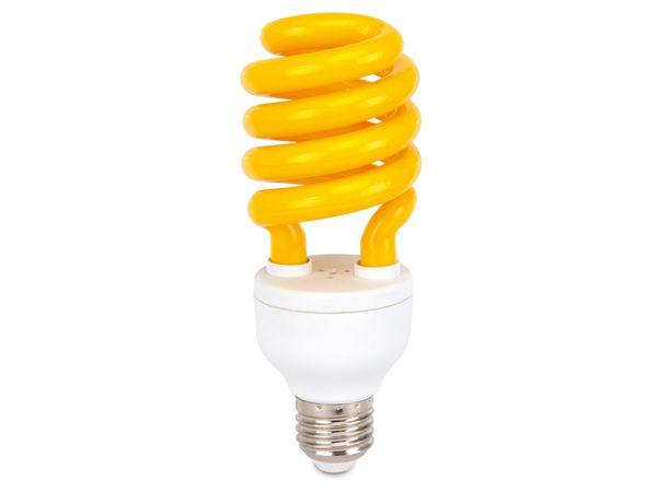 Energiesparlampe DAYLITE S-E27-14WY, E27, EEK: B, 14 W, 230 lm, gelb