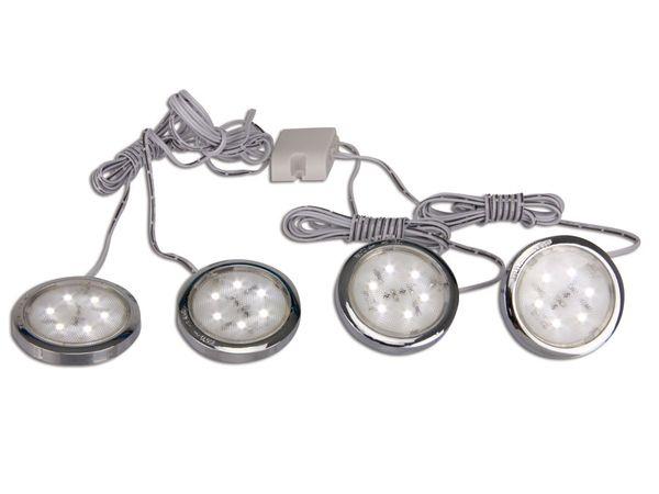 LED-Unterbauleuchten Komplett-Set, 4x 0,5 W - Produktbild 1