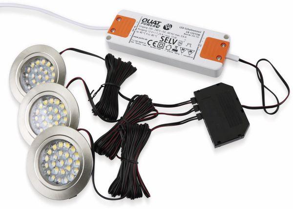 LED-Einbauleuchten Komplett-Set DAYLITE LES-3,EEK: A+, 1,8 W, 100 lm, 4000K