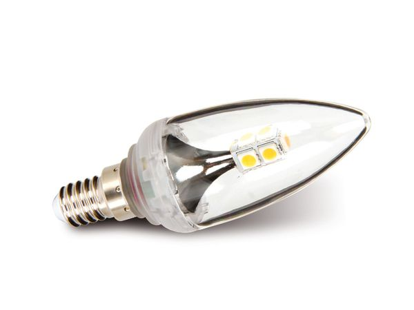 LED-Lampe, E14, 230 V~, 2,5 W, Kerze, klar, DURACELL