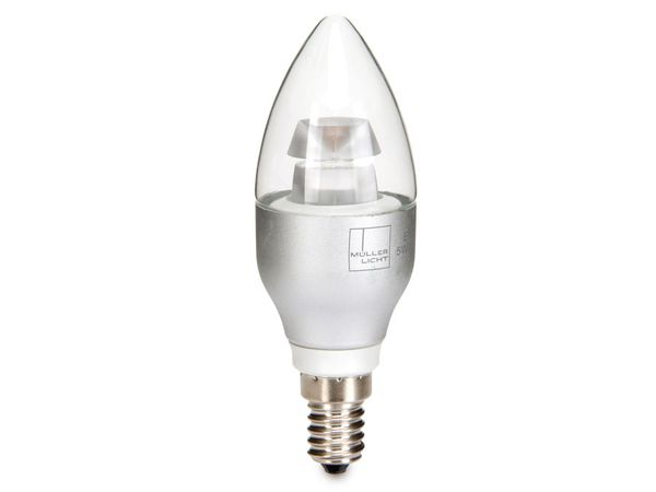 LED-Lampe MÜLLER LICHT 24565, E14, EEK: A+, 5 W, 290 lm, 2700K