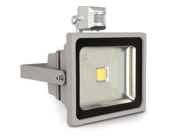 LED-Flutlichtstrahler mit Bewegungsmelder, EEK: A, 30 W, 1800 lm, 6400K - Produktbild 3