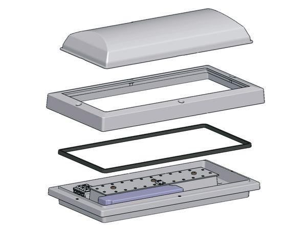 LED Wand- und Deckenleuchte DAYLITE WDL-300S/K, EEK: A, 18 W, 1600 lm - Produktbild 4