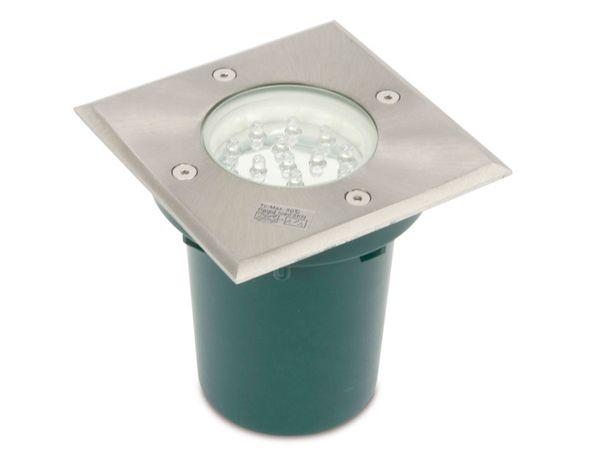 LED-Bodeneinbauleuchte, Edelstahl, 105x105 mm, 230 V~, 3000K - Produktbild 1