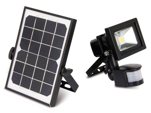 Solar LED-Fluter mit Bewegungsmelder, EEK: A+, 10 W, 1000 lm, 4200 K - Produktbild 1