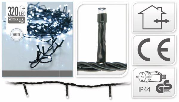 LED-Lichterkette, 320 LEDs, kaltweiß, 230V~, IP44, Innen/Außen - Produktbild 4