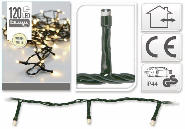 LED-Lichterkette, 120 LEDs, warmweiß, 230V~, IP44, Innen/Außen - Produktbild 4