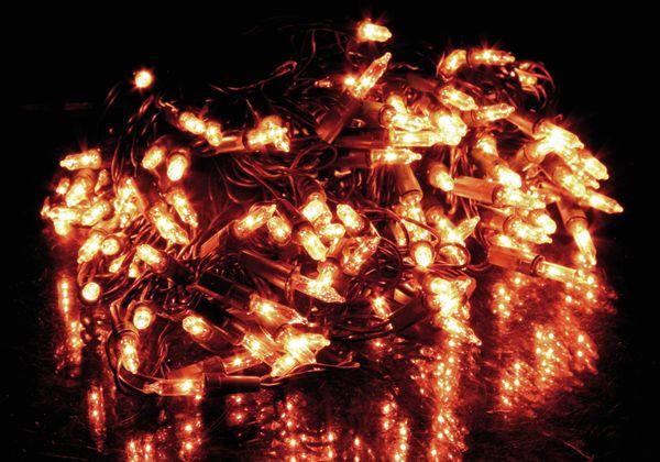 Lichterkette mit 120 Lampen, warmweiß, 230V~, IP44, Innen/Außen