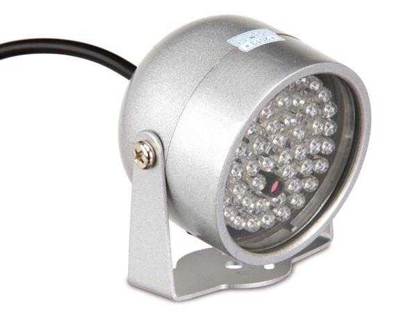 IR-Scheinwerfer für CCD- und CMOS-Kameras, 12 V- - Produktbild 1