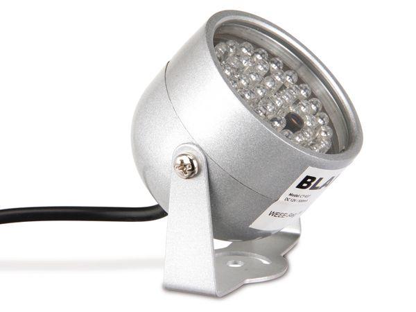 IR-Scheinwerfer für CCD- und CMOS-Kameras, 12 V- - Produktbild 2