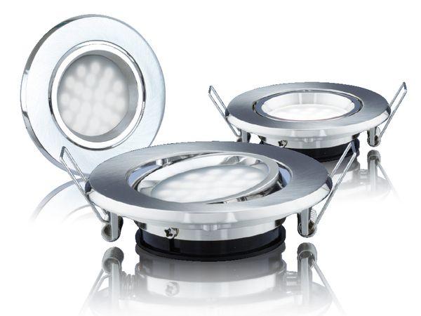 LED-Einbauleuchte DAYLITE LES-87GK/3, EEK: A++, 1,8 W, 125 lm, 6000 k, 3 St - Produktbild 1