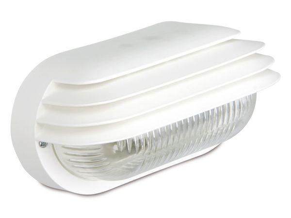 Ovalleuchte mit Lamellen, 60 W, IP44, weiß - Produktbild 1