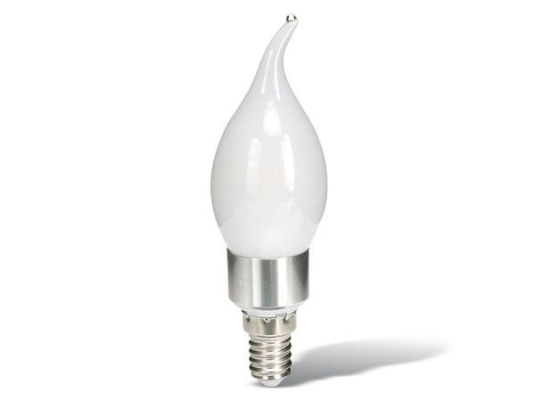 LED-Lampe, E 14, EEK: A+, 4 W, 400 lm, 3000 K, Windstoßkerze