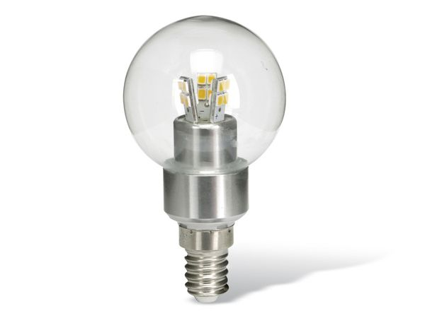 LED-Lampe, Ball, 3 W, 250 lm, chrom