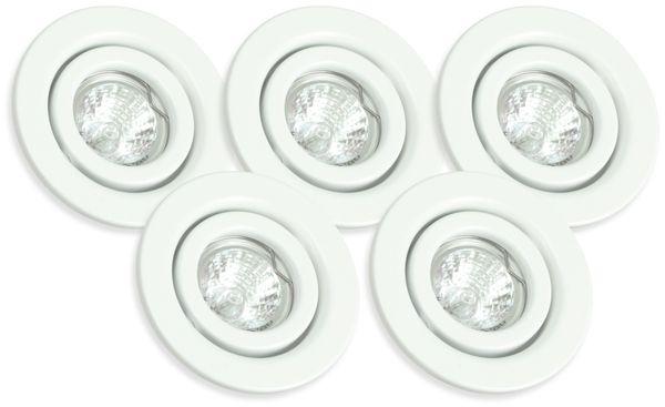 Decken-Einbauleuchten 5er-Set MASSIVE 72810/65/31, EEK: B, weiß - Produktbild 1