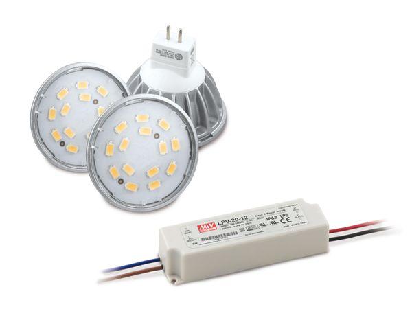 LED-Umrüstset DAYLITE LUS-MR16-3-W, 3 Lampen
