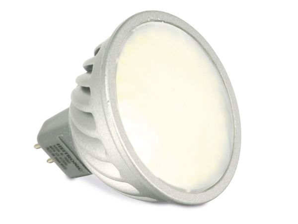 LED-Strahler, MR16, 5 W, 6400 K, 400 lm, matt, HEITRONIC 16093 - Produktbild 1