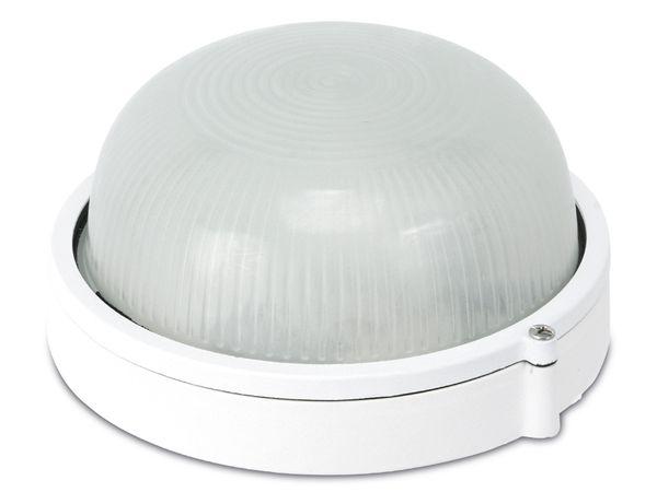 Rundarmatur, 60 W, E27, Alu, weiß - Produktbild 1