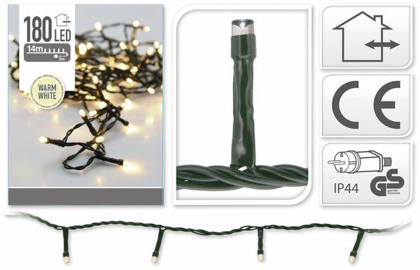 LED-Lichterkette, 180 LEDs, warmweiß, 230V~, IP44, Innen/Außen - Produktbild 5