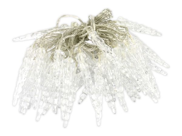 LED-Eiszapfen Lichterkette, 40 LEDs, weiß - Produktbild 1