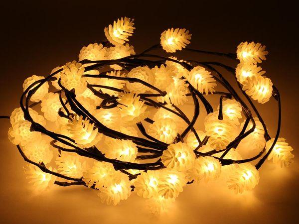 LED-Pinienzapfen Lichterkette, 60 LEDs, warmweiß - Produktbild 1