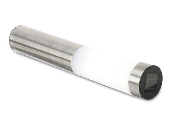 LED Solar-Palisadenleuchte aus Edelstahl - Produktbild 2