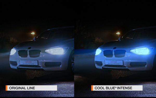 Halogen-Autolampe H4 OSRAM COOL BLUE INTENSE 64193CBI, 2 Stück - Produktbild 2