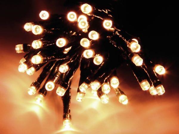 LED-Lichterkette, 24 LEDs, warmweiß, Batteriebetrieb, IP44, Timer - Produktbild 1